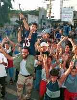 palestinians cheering in the streets after 911